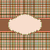 Wallace tartan vintage card background. EPS 8 vector file included — Stock Vector