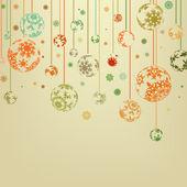 Jahrgang, frohe weihnachten und glückliches neues jahr. eps 8 — Stockvektor