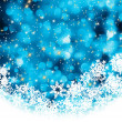 Blue abstract christmas background with snowflake. EPS 8 vector file included - Stock Vector