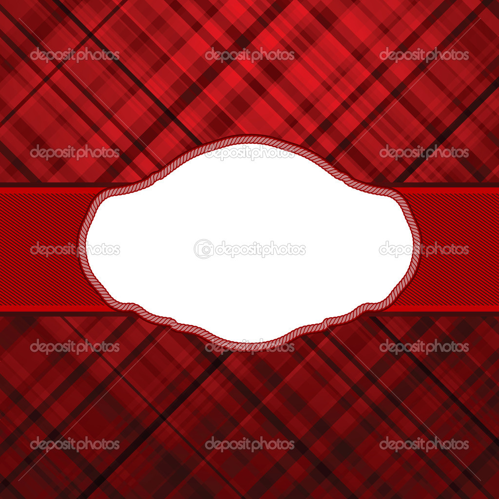 Wallace tartan red vintage card background. EPS 8 vector file included  Stock Vector #6629933