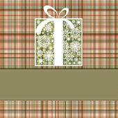 Christmas box kaart. eps-8 vector bestand opgenomen — Stockvector