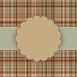 Royalty-Free Stock Vector Image: Wallace tartan vintage card background. EPS 8