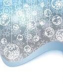 Elegant christmas met sneeuwvlokken. eps 8 — Stockvector