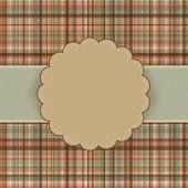Wallace tartan vintage card background. EPS 8 — Stock Vector
