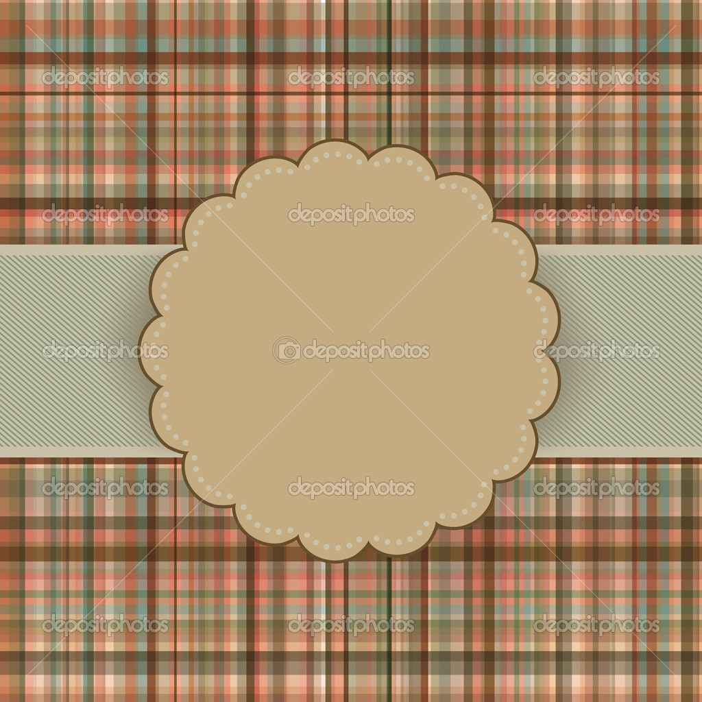 Wallace tartan vintage card background. EPS 8 vector file included — Stock Vector #6665562