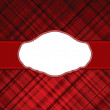 Royalty-Free Stock Vector Image: Wallace tartan red vintage card background. EPS 8 vector file included