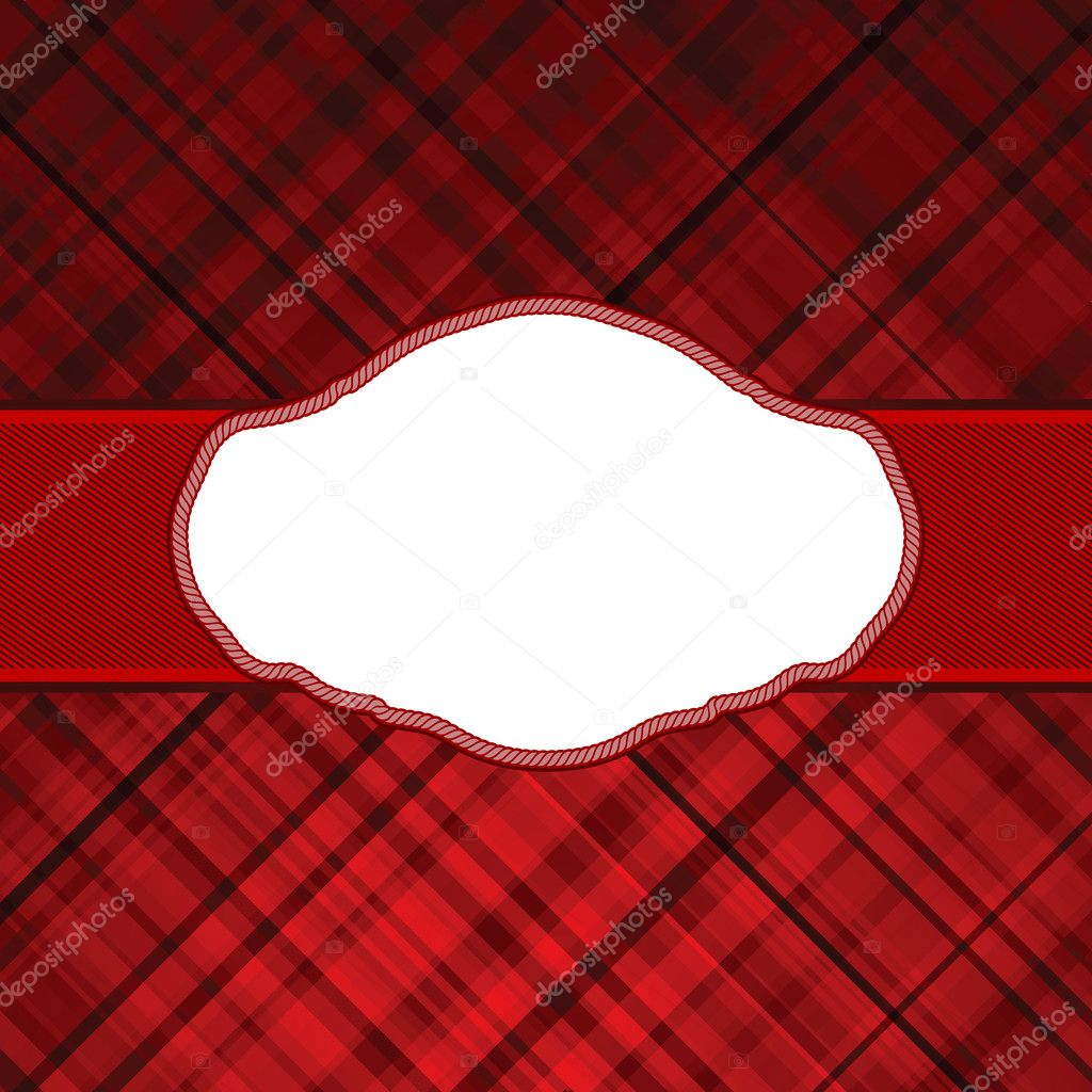 Wallace tartan red vintage card background. EPS 8 vector file included  Stock Vector #6681803