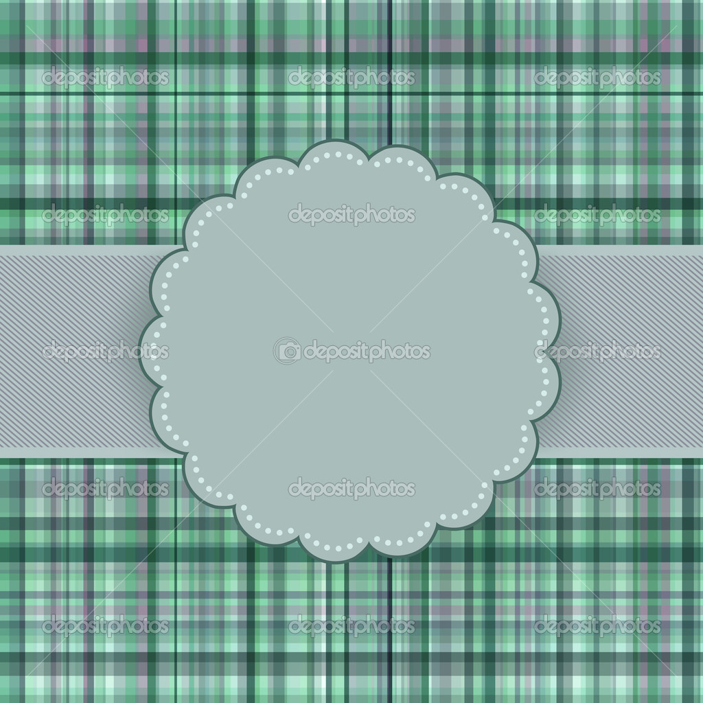 Wallace tartan vintage card background. EPS 8 vector file included — Stock Vector #6682650
