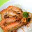 Rice with shrimp — Stock Photo #6629193