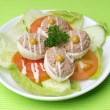 Egg tuna salad — Stock Photo