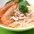 Seafood rice noodles — Stock Photo