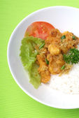 Rice dinner — Stock Photo