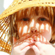 Little girl in the hat — Stock Photo