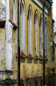 A wall of an old Lutheran church — Stock Photo