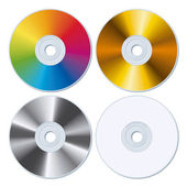 Set of four blank CDs — Stock Vector
