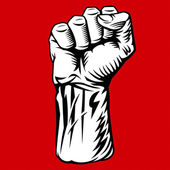 Man Fist — Stock Vector