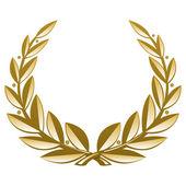 Golden Wreath — Stock Vector
