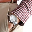 Wrist watch on hand — Stock Photo