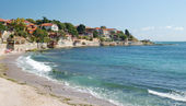 Beach on the Black Sea in Nessebar, Bulgaria — Stock Photo