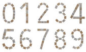 Full numeral set made of metallic brackets — Stock Photo