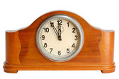 Old clock showing 5 minutes to midnight — Stock Photo