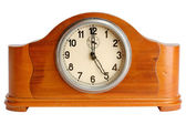 Old clock showing 5 hours — Stock Photo