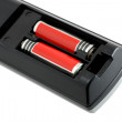 Stock Photo: Two batteries in electronic device