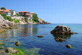 Black Sea coast in ancient town of Sozopol in Bulgaria — Stock Photo