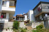Widok na domy w starym mieście sozopol, bułgaria — Zdjęcie stockowe