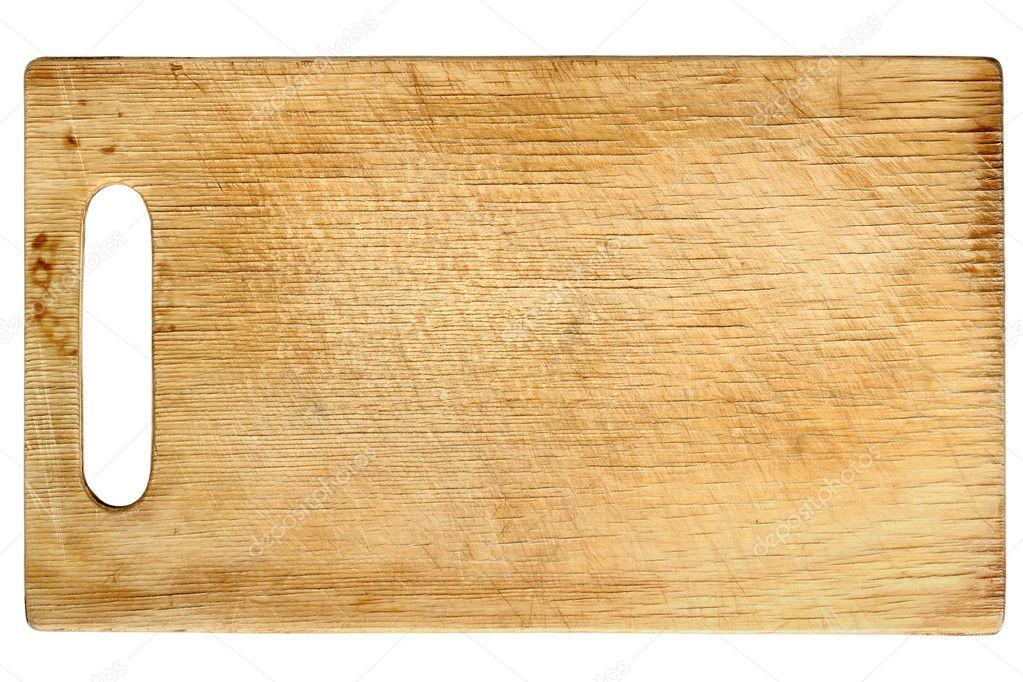 Utiliza la tabla para picar de madera aislada sobre fondo - Como hacer una tabla para picar de madera ...
