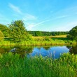 Stock Photo: Forth and Clyde Canal in Scotland
