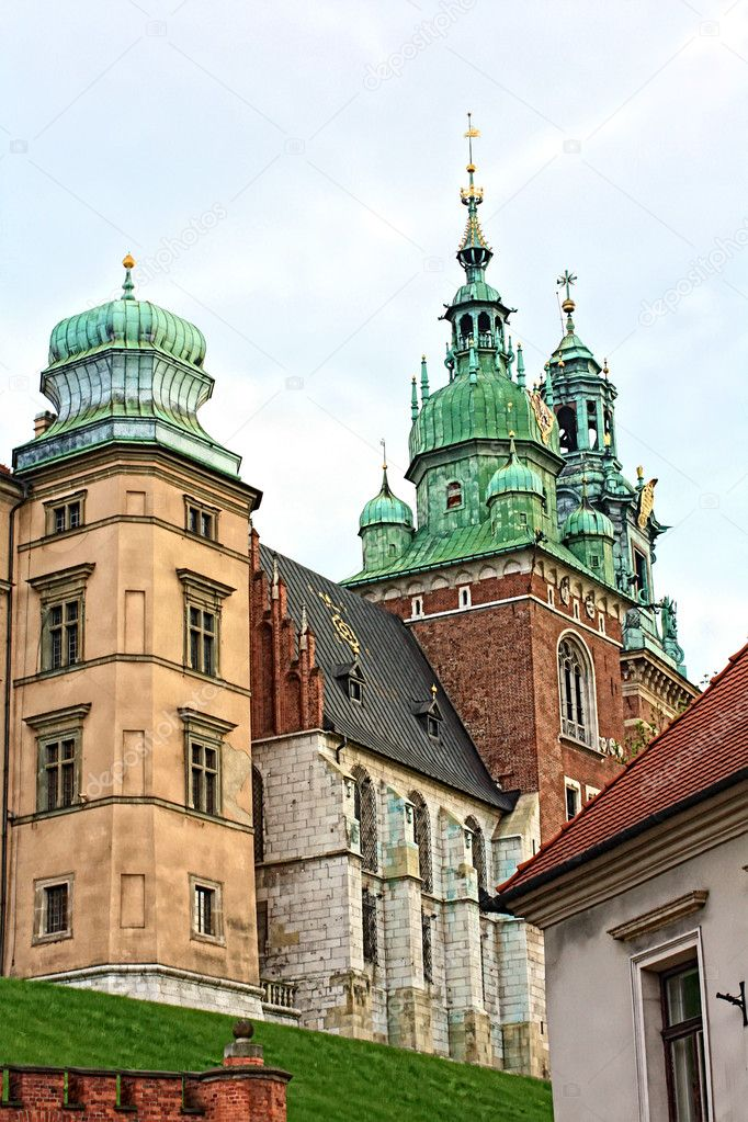 Wawel Castle close up, Krakow, Poland — Stock Photo #6364781