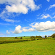 Stockfoto: Scottish landscape with clouds in sky