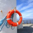 A lifebelt on the old lighthouse - Stockfoto