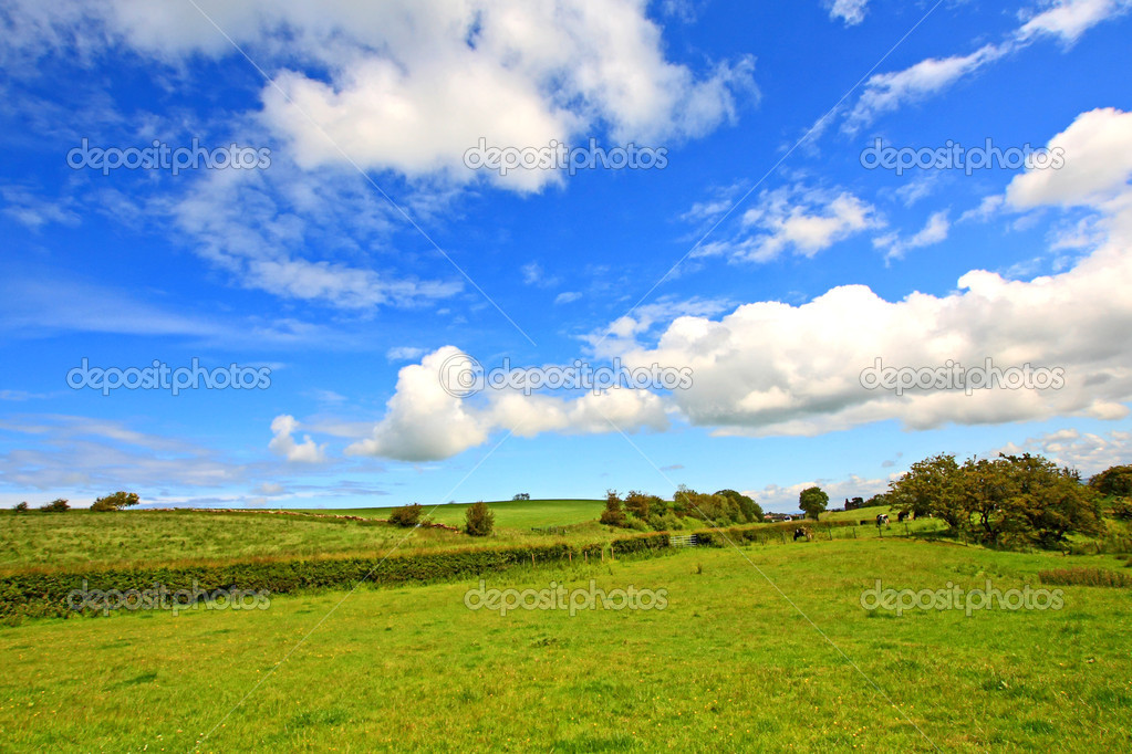 Scottish landscape with clouds in the sky  Stock Photo #6406818
