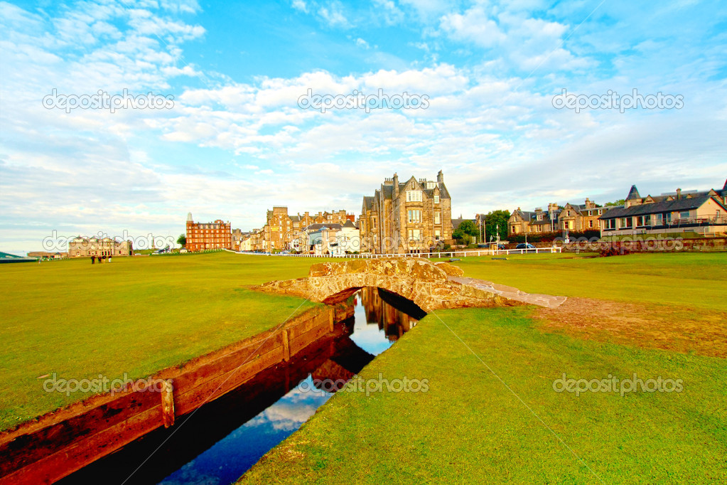 Golf course,Swilcan Bridge, St Andrews — Stock Photo #6423966