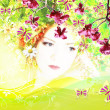 Beautiful Spring woman — Foto Stock
