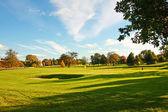 Campo de golf en el parque de stirling, stirlingshire, scotland, — Foto de Stock