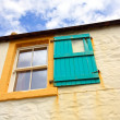 Old window with wooden shutters — Stock Photo