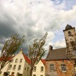 Old town clock and houses in Culross , Fife, Scotland — Stock Photo #6605511