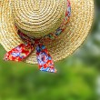 Lovely Summer straw hat — Stock Photo