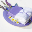 Lavender flowers and a soap — Foto Stock