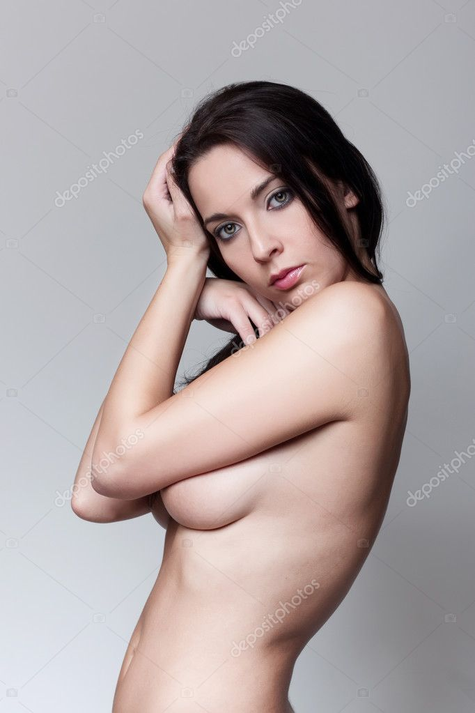 Glamor nudes sensual brunette girl — Stock Photo #5445693