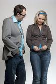 Fashion business couple — Stock Photo