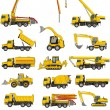 Stock Vector: Building machines set