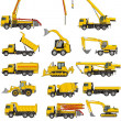 Building machines set — Stock Vector