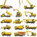 Building machines set — Stock Vector