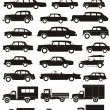 Silhouettes cars set - Stock Vector