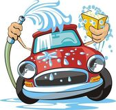 Lavagem de carro — Vetorial Stock