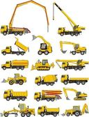 Machines de construction set — Vecteur